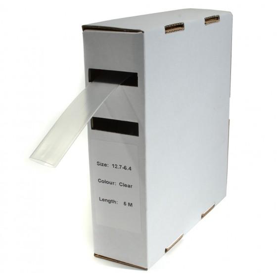 Krimpkous H-1 box 12.7 Ø / 6.4 Ø 5m transparant
