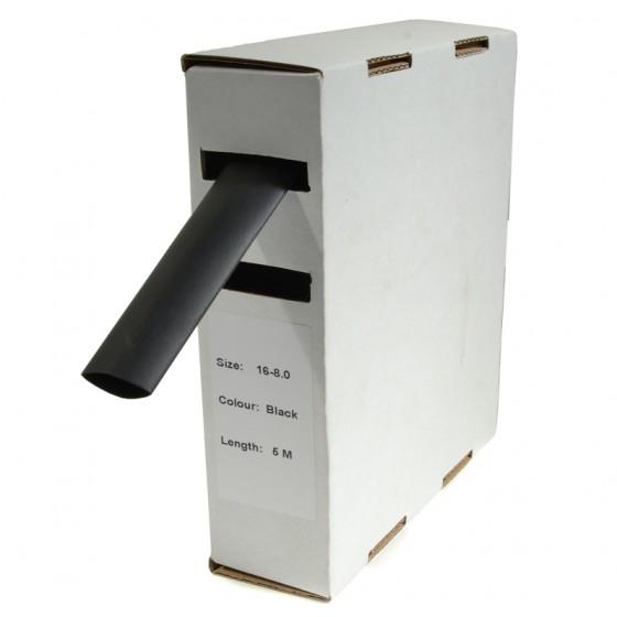 Krimpkous H-2 box 12.7 Ø / 6.4 Ø 5m zwart