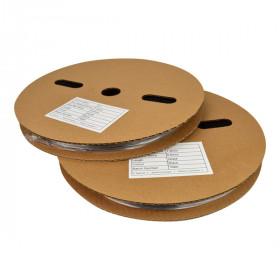 Krimpkous met lijm 3:1 - Ø 9.5 mm / 3.2 mm - 100 m transparant