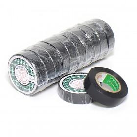 Lion PVC Isolatietape 15mm x 10m Zwart - 10 rollen