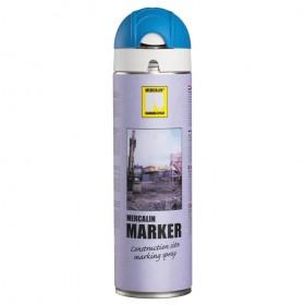 Mercalin Marker fluoriserende verf - spuitbus 500ml blauw