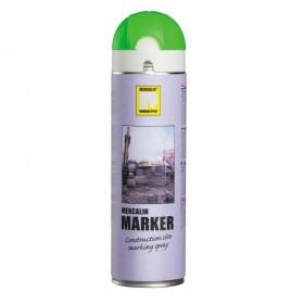 Mercalin Marker fluoriserende verf - spuitbus 500ml groen