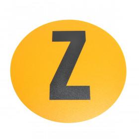 Magazijn vloersticker - Ø 19 cm - geel / zwart - Letter Z