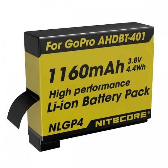 Nitecore NLGP4 Camera batterij voor de GoPro Hero4