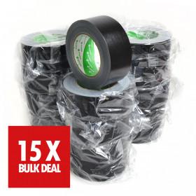 Nichiban tape 50mm x 25m zwart x 15 - 15 jaar aanbieding