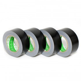 Nichiban gaffa / duct tape 50mm x 25m zwart - 4 rollen