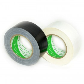 Nichiban - Duct tape - 50mm x 25m - Zwart / Wit - 2 pack