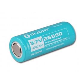 Olight oplaadbare lithium 26650 3,7V batterij - 4000mAh