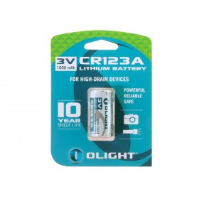 Olight CR123A lithium batterij 3V - 1600mAh