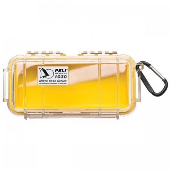 Peli Case 1030 Micro Geel/Transparant