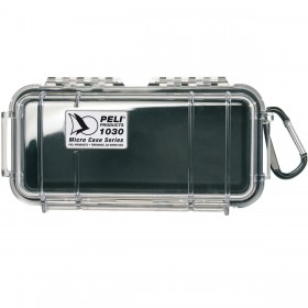 Peli Case 1030 Micro Transparant / Zwart
