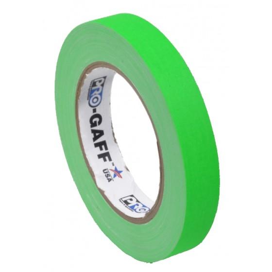 Pro-Gaff neon gaffa tape 19mm x 22,8m groen
