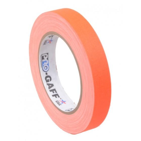 Pro-Gaff neon gaffa tape 19mm x 22,8m oranje