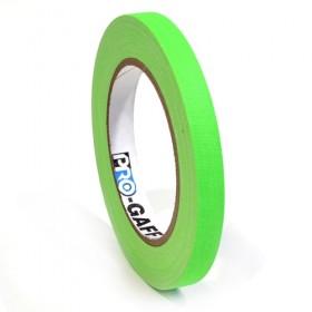 Pro-Gaff neon gaffa tape 12mm x 22,8m groen