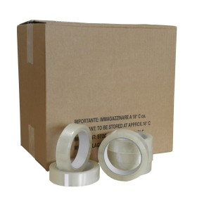PVC tape transparant 25mm. x 66 mtr.