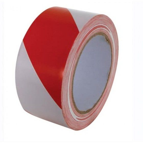 Advance AT8 PVC Vloermarkeringstape 50mm x 33m. Rood / Wit
