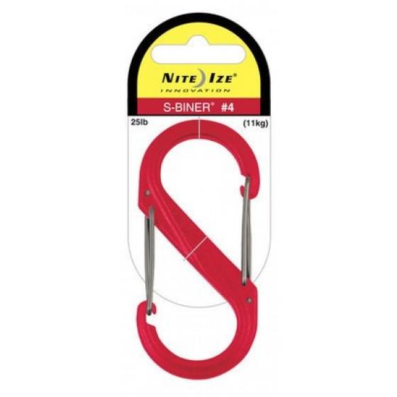 Nite Ize S-Biner #4 plastic rood