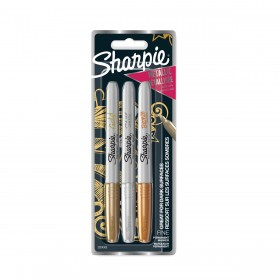 Sharpie Fine Point set metallic - Goud, Zilver en Brons