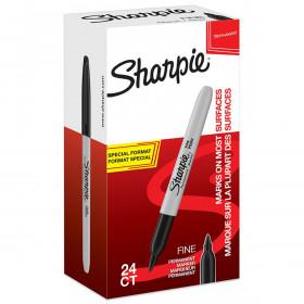 Sharpie Fine Point permanent marker 1mm zwart - 24 stuks - verpaking