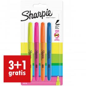 Sharpie Markeerstift Highlighter - set van 4 stuks