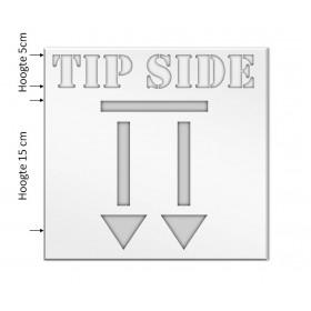 Tip Side Sjabloon kunststof PE 0,3mm