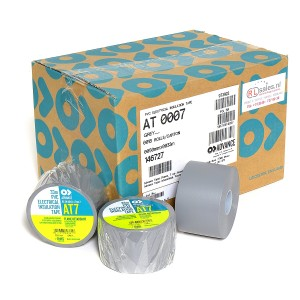 Advance AT7 PVC tape 50mm x 33m grijs - doos 18 rollen