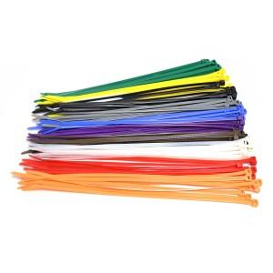 Kabelbinders 4,8 x 300 mm - 10 kleurenmix - zak 100 stuks