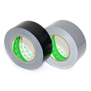 Nichiban - Duct tape - 50mm x 25m - Zwart / Zilver - 2 pack