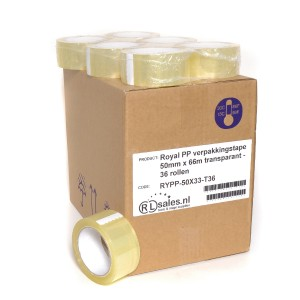 Royal PP verpakkingstape 50mm x 66m transparant - 36 rollen