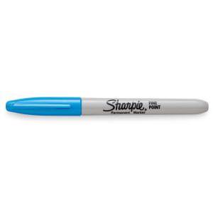 Sharpie permanent marker - fluoriserend Blauw - met dop