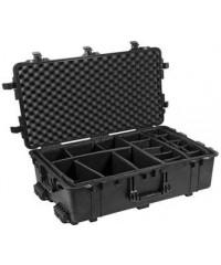 Peli 1650 Case Zwart-Met klittenband vakverdeling
