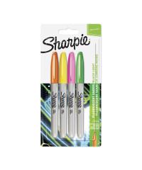 Sharpie permanent marker Neon - 4 Kleurenset - verpaking
