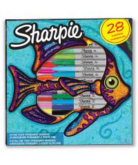 Sharpie Fine Point markeerstiften 28 stuks - Vis kleurenset - voor