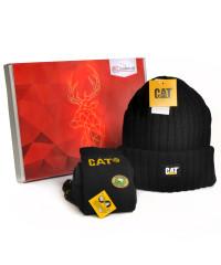 CAT Cadeaubox - Caterpillar Muts Zwart en Sokken