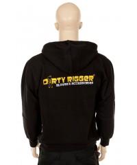 Dirty Rigger Hoodie met rits achterkant