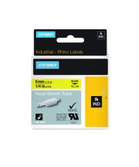 Dymo RHINO 18052 - IND Krimpkous label - 6mm zwart op geel - verpaking