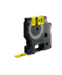 Dymo RHINO 18054 - IND Krimpkous label - 9mm zwart op geel - aparaat