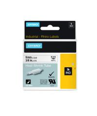 Dymo RHINO 18054 - IND Krimpkous label - 9mm zwart op geel - verpaking