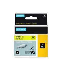 Dymo RHINO 18056 - IND Krimpkous label - 12mm zwart op geel -  verpaking