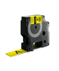 Dymo RHINO 18058 - IND Krimpkous label - 19mm zwart op geel - aparaat