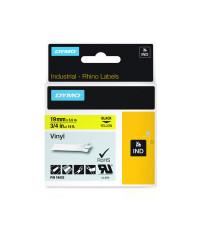 Dymo RHINO 18433 IND - vinyl label tape - 19mm zwart op geel - verpaking