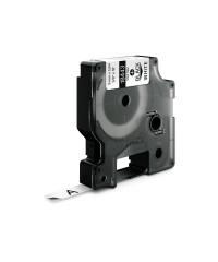 Dymo RHINO 18443 IND - vinyl label tape - 9mm zwart op wit - aparaat