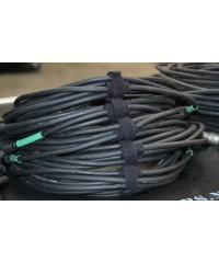 Cable strap in gebruik