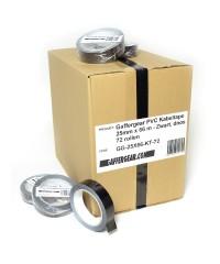 Gaffergear PVC Kabeltape 25mm x 66 m - Zwart, doos 72 rollen