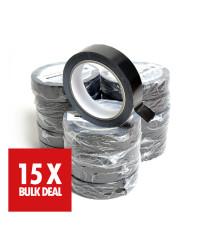 Gaffergear PVC Kabeltape 25mm x 66 m - Zwart x 15 - 15 jaar aanbieding