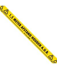 1,5 meter afstand houden aub - Hoge kwaliteit vloer markeringstape - 50mm x 33m
