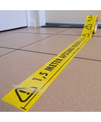 1,5 meter afstand houden aub tape met beschermende toplaag