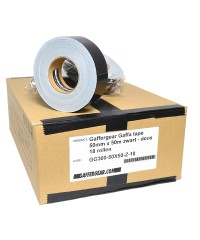 Gaffergear Gaffa tape 50mm x 50m zwart - doos 18 rollen