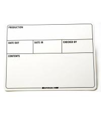 GafferGear Flightcase label 150mm x 200mm