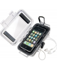 Peli Case i1015 iPhone Transparant / Zwart open
